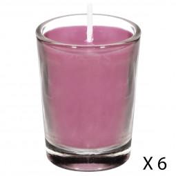 Lot de 6 bougies parfumées fleur sakura nina