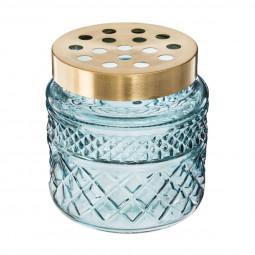 Vase avec couvercle laiton amovible porte tiges blush living H 13 cm