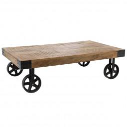 Table basse Silas montée sur 4 roues collect moments