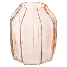 Vase en verre blush living  H19 cm