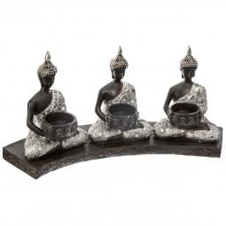 Photophore 3 Bouddha D35xH17 cm