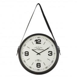 """Pendule en métal """"Belt spirit""""  D 38 cm """"Chic factory"""""""