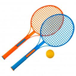 Lot de 2 raquettes de tennis avec une balle en mousse