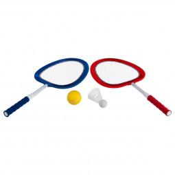 Lot de 2 raquettes souples + balle + volant