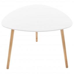 Table de café Mileo blanche