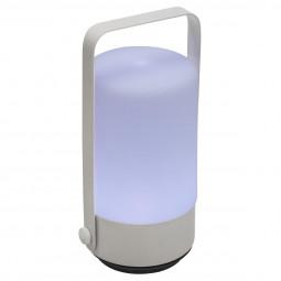 Lampe lampion push LED gris H19
