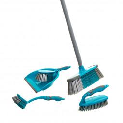 Kit de nettoyage 5 pièces bleu et gris