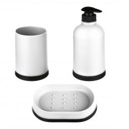 Lot de 3 accessoires pour salle de bain