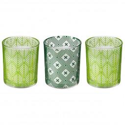Lot de 3 Bougies parfumées pot en verre