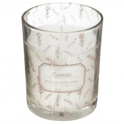 Bougie parfumée pot en verre avec motif 210G