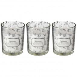 Lot de 3 Bougies parfumées charme en verre