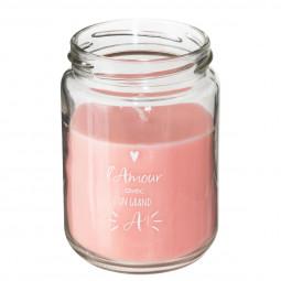 Bougie parfumée pot en verre avec couvercle 205G