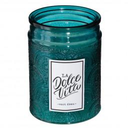 Bougie parfumée pot en verre avec couvercle la dolce vita 285G