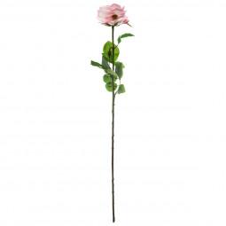 Rose au toucher réel H 66 cm