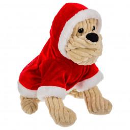Déguisement de Noël pour Chien Manteau rouge à capuche et fourrure blanche Les incontournables