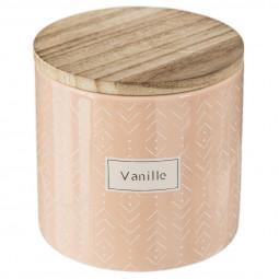 Bougie parfumée pot en céramique avec couvercle blush living 325G