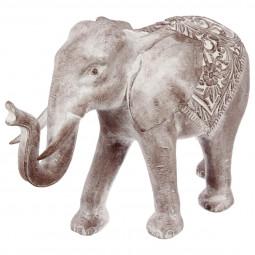 Eléphant blanchi en résine H46