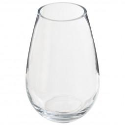 Vase bombé en verre H23 cm