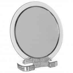 Miroir double face sur pied transparent