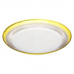 Assiette plate bicolore D27 cm