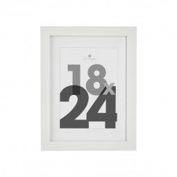 Cadre photo blanc 18x24