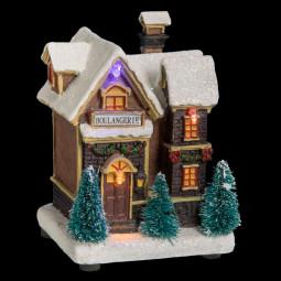 Village de Noël lumineux Scène de Noël Collection Village en ville