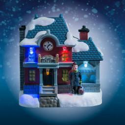 Village de Noël lumineux Boutique éclairée Collection Village au village