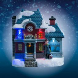 Village de Noël lumineux Boutique éclairée