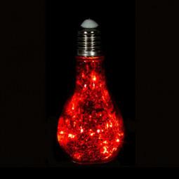 Décoration Intérieur lumineuse Ampoule mercury à LED H 18.5 cm