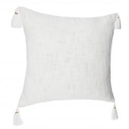 Housse de coussin slun blanc 40x40