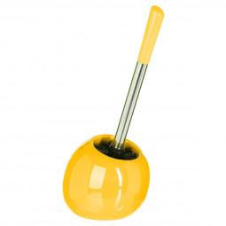 Brosse wc sun jaune moutarde