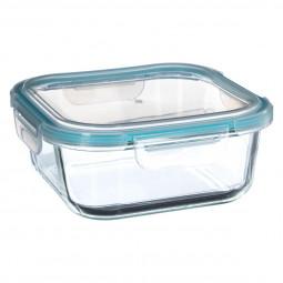 Boite de conservation carrée en verre 1,18L clipeat