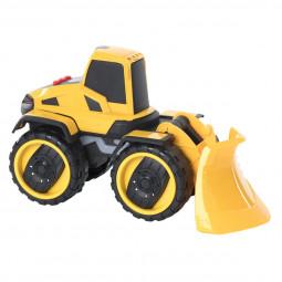 Véhicule  de chantier Pelleteuse de travaux jaune