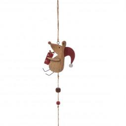 Guirlande de Noël Souris en Bois L 100 cm Comptoir de Noël