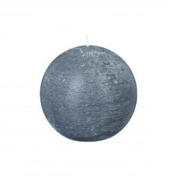 Bougie rustique boule gris D12