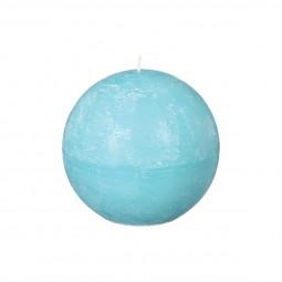 Bougie rustique boule turquoise D12