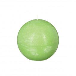 Bougie rustique boule vert D12