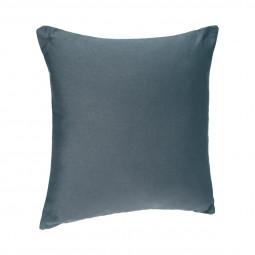 Coussin déhoussable bleu orage 38x38