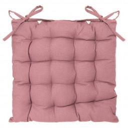 Galette de chaise rose 38x38