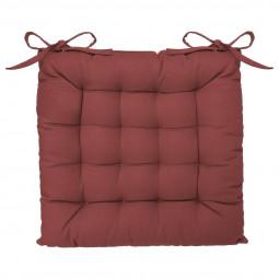 Galette de chaise rouge berry 38x38
