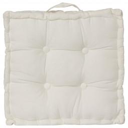 Coussin de sol ivoire 40x40