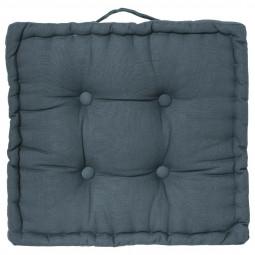 Coussin de sol bleu orage 40 x 40 cm