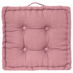 Coussin de sol rose 40 x 40 cm