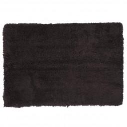 Tapis doux à poils longs gris 60x90 cm