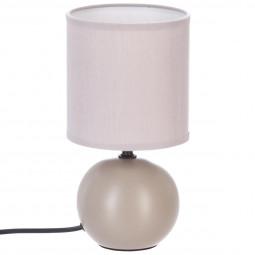 Lampe céramique taupe H25