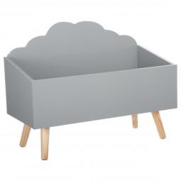 Coffre nuage gris
