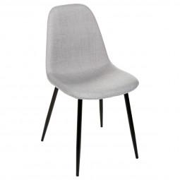 """Lot de 2 chaises grises """"Tyka"""" pieds en métal"""