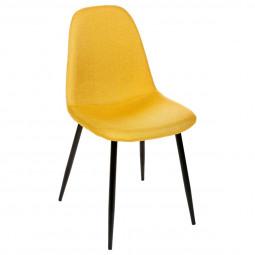 """Lot de 2 chaises jaunes """"Tyka"""" pieds en métal"""