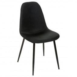 """Lot de 2 chaises noires """"Tyka"""" pieds en métal"""