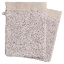 2 gants de toilette 15x21 Originel